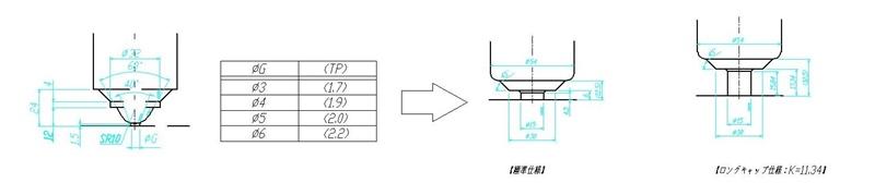 導入事例 No.23 VSノズル【VS063】【VS080】トップタイプ ロングキャップ仕様